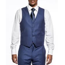 indigo 3 piece suit slim fit two button notch lapel wedding