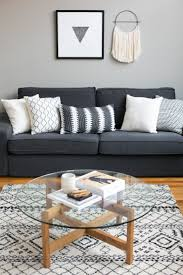 Livingroom Table Best 25 Grey Sofa Decor Ideas On Pinterest Grey Sofas Gray