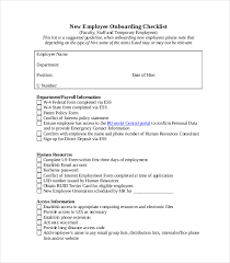 Document Template Excel Onboarding Checklist Template 10 Free Word Excel Pdf