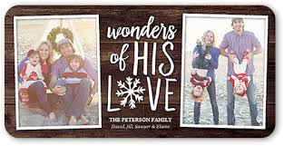 wonders of his love 4x8 photo religious christmas cards shutterfly