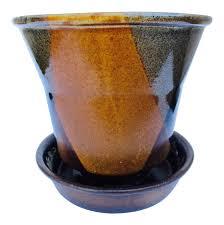 robert maxwell style glazed planter pot pottery craft chairish