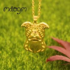 gold animal pendant necklace images 2018 cute american pitbull necklace dog animal pendant gold silver jpg