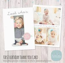 first birthday cake smash thank you card template af001 paper