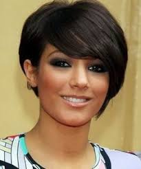 birthing hairstyles birthing dark brown bobo style with tilted bang high temp fiber