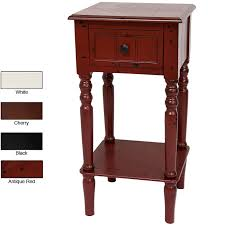 Square Accent Table Catchy Narrow Accent Table Handmade Wood 28 Inch Classic Design