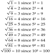 using square root and cube root to represent solutions to