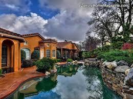 fancy stone inground pool water slide luxury pool backyard pool