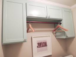 Laundry Room Decorating Ideas by Laundry Room Hanging Rod Shelf Creeksideyarns Com
