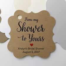 bridal shower favor tags from my shower to yours favor tags from my shower to