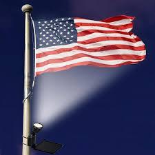 solar led flagpole light amazon com maxsa directionally focused solar led flag light black