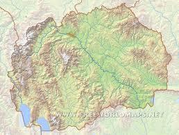 Europe Peninsulas Map Macedonia Physical Map