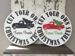vintage christmas trees for sale old truck painted round