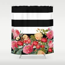 Pink Black And White Shower Curtain Artistically Designed Shower Curtain Is 100 Polyester