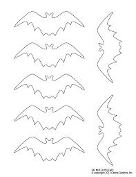bat templates all hallows eve halloween templates patterns