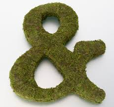 moss covered letters moss letters