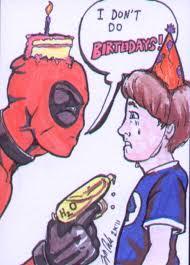 deadpool sketch card birthday by shinlyle on deviantart