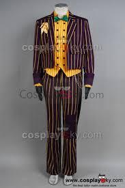batman arkham asylum joker cosplay costume coat suit batman