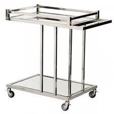 designer servierwagen casa padrino luxus bar trolley servierwagen aus edelstahl und glas