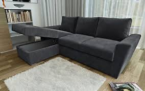 grey l shaped sofa bed ravena 2 seater or stanford l shape sofa beds in chenille fabric
