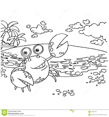 crab coloring pages vector stock vector image 59305440