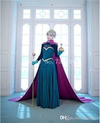 2016 snow queen anna elsa princess costume women elsa anna