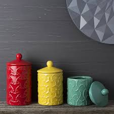 Kitchen Canisters Ceramic Light Up Your Kitchen With Red Kitchen Canisters Wigandia