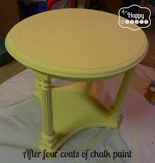 side table paint ideas mellow yellow diy chalk paint side table the happy housie