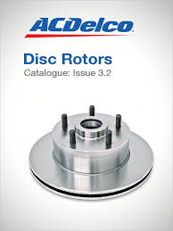 catalogue acdelco brake rotors australian