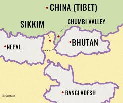 Map Of Nepal And China by Riled By India U0027s Roadblock China Turns The Screws In Sikkim The