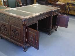 Eckschreibtisch Nussbaum Schreibtisch Eckschreibtisch Büromöbel Partnerdesk Antik Stil