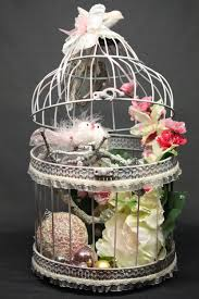 decorative bird cage in shabby chic style this unique handmade