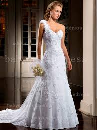 one shoulder wedding dress wholesale one shoulder bridal gowns with flowers sweetheart