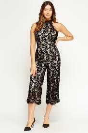 halter neck jumpsuit lace overlay halter neck jumpsuit just 5