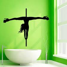 pole dance wall decals striptease girl dancer beauty salon zoom