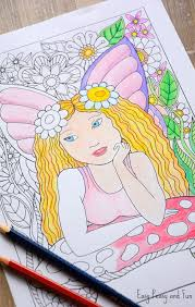 easy peasy coloring page little fairy coloring page easy peasy and fun