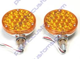 4 inch round led tail lights amber led tail light 4 inch round dual filament running light and