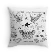 Tattoo Bedding Online Shop Harry Styles Tattoos Department Decorative Pillowcases