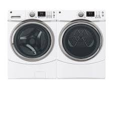 black friday sales on washers and dryers gfws1700hwwge 4 3 cu ft front load washer white on white big