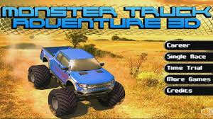3d monster truck stunt racing game play for children monster truck adventure 3d crazy