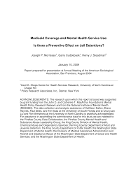 bureaux des hypoth ues medicaid coverage and mental health service use is there a
