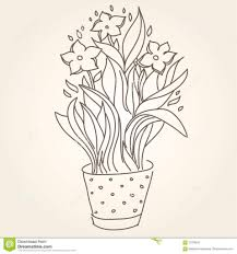 flower pot drawing flower page printable coloring sheets flower