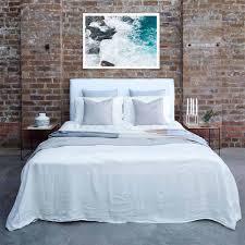 designer headboard designer bronte slipcover linen bed head headboard light blue