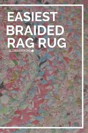 Amish Braided Rugs How To Make A No Sew Round Braided Rug With T Shirts Thoughts