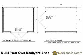 floor plans for sheds 10x8 shed plans 10 wide by 8 shed plans