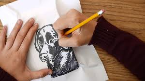 printing and writing paper black dog labrador linoleum block carving and printing stamp black dog labrador linoleum block carving and printing stamp youtube