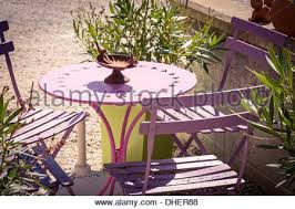 Cafe Style Table And Chairs Traditional Cafe Table And Chairs France Stock Photo Royalty
