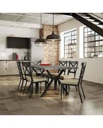wood and metal dining table sets great deals on carbon loft prescoft metal dining set black metal