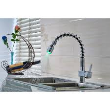 online get cheap light colored kitchen faucets aliexpress com flg kitchen faucet green red blue 3 color light changing pull out torneira deck