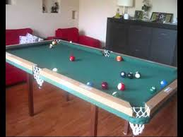 Free Diy Pool Table Plans by Home Made Pool Table First Test Youtube