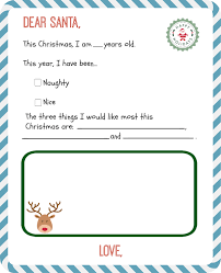 santa list template printable template examples